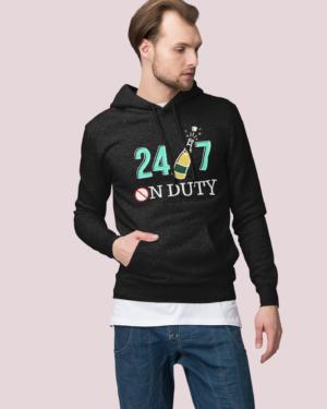 24×7 on duty – Hoodie
