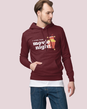 I live for a movie night – Hoodie