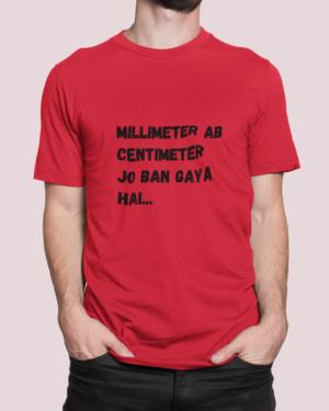 Millimeter ab centimeter jo ban gaya hai