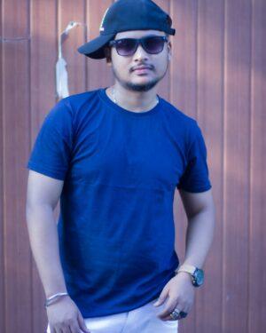 Plain Blue Unisex T-Shirt