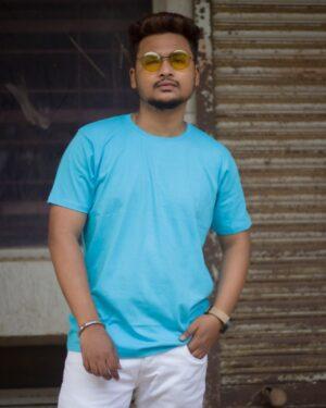 Plain Light Blue Unisex T-Shirt
