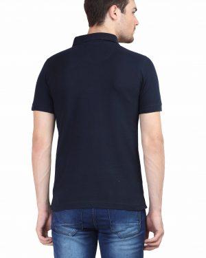 Plain Polo T-Shirt – Navy blue