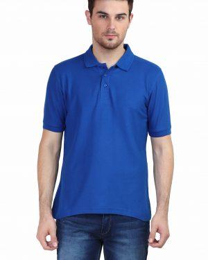 Plain Polo T-Shirt – Blue