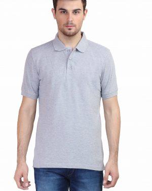 Plain Polo T-Shirt – Grey