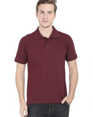 Plain Polo T-Shirt – Maroon