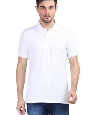 Plain Polo T-Shirt – White