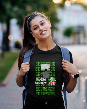 Music on t shirt – Women